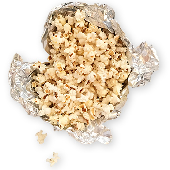 foil packets of popcorn